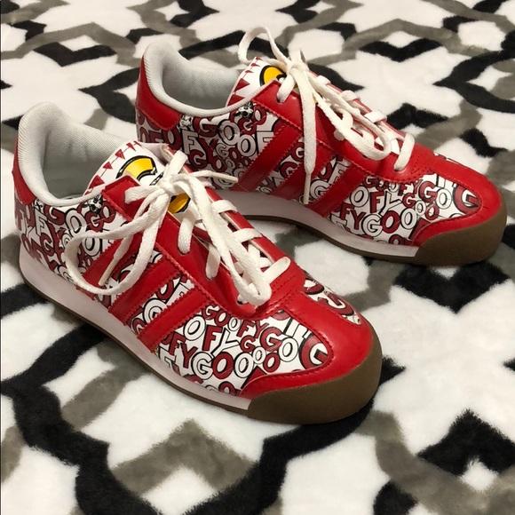 RARE Adidas Samoa C Goofy Disney Chile Samba Shoes